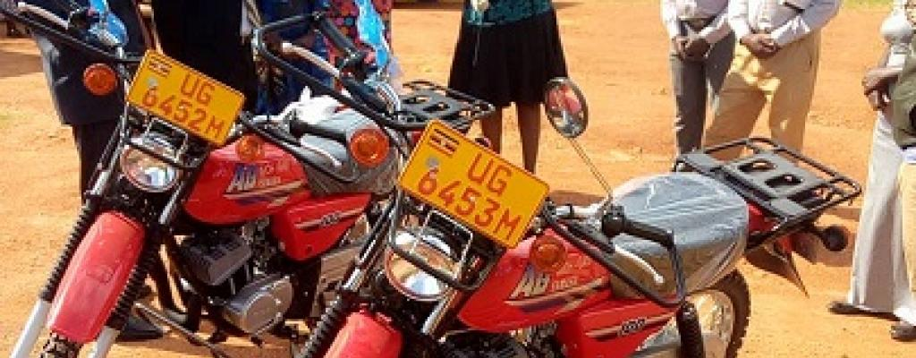 BRAND NEW MOTORCYCLES FOR HEALTH WORKERS